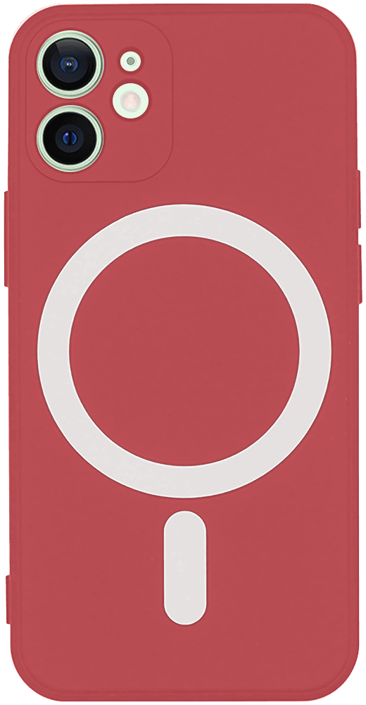 Apple iPhone 12 Mini szilikon tok gyári MagSafe piros