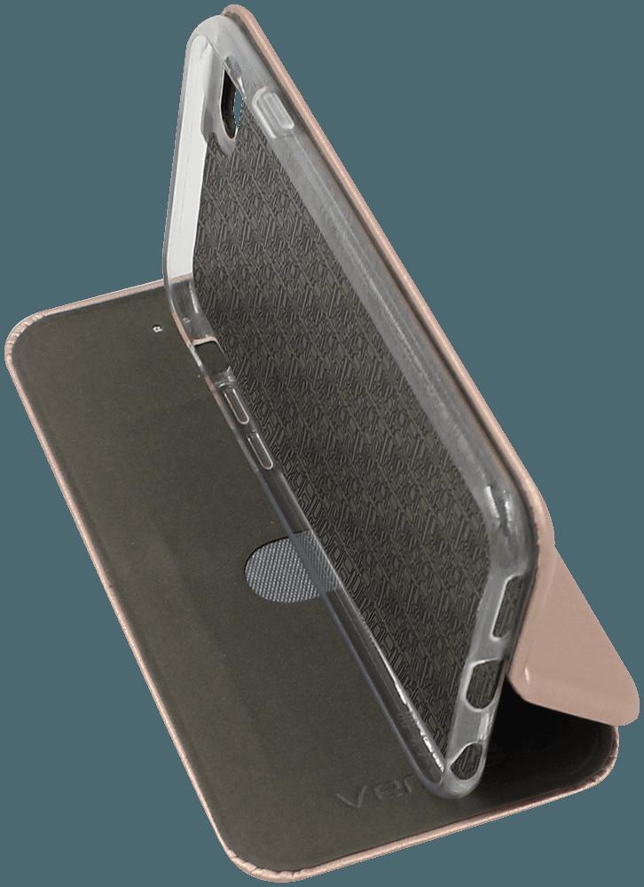 Apple iPhone 6S oldalra nyíló mágneses flipes bőrtok prémium minőség rozéarany