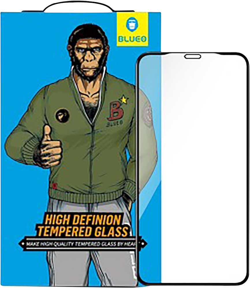 Apple iPhone 11 edzett üvegfólia Mr Monkey átlátszó fekete