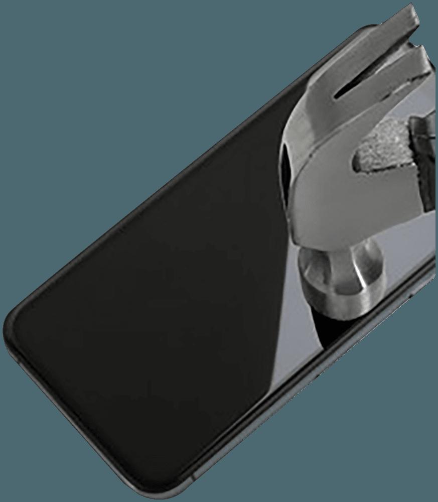 Apple iPhone 11 Pro Max edzett üvegfólia Mr Monkey átlátszó fekete