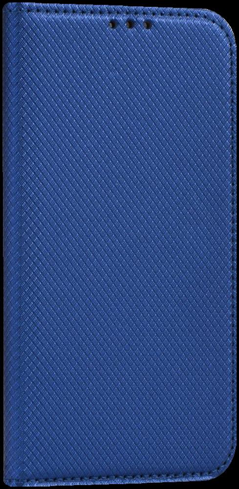 LG K10 2017 (M250N) oldalra nyíló flipes bőrtok rombusz mintás sötétkék