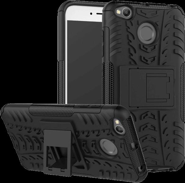 Xiaomi Redmi 4X ütésálló tok ütésálló, asztali kitámasztós fekete