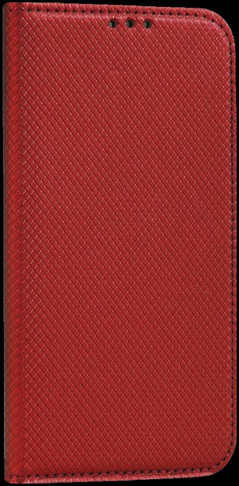 LG K10 2017 (M250N) oldalra nyíló flipes bőrtok rombusz mintás piros