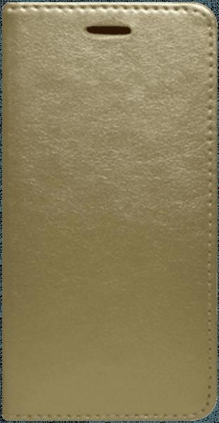 LG K10 2017 (M250N) oldalra nyíló flipes bőrtok asztali tartó funkciós arany