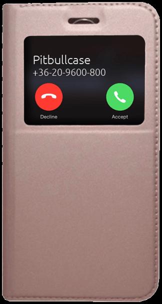LG K10 2017 (M250N) oldalra nyíló flipes bőrtok rozéarany