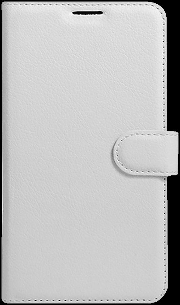 LG K10 2017 (M250N) oldalra nyíló flipes bőrtok fehér