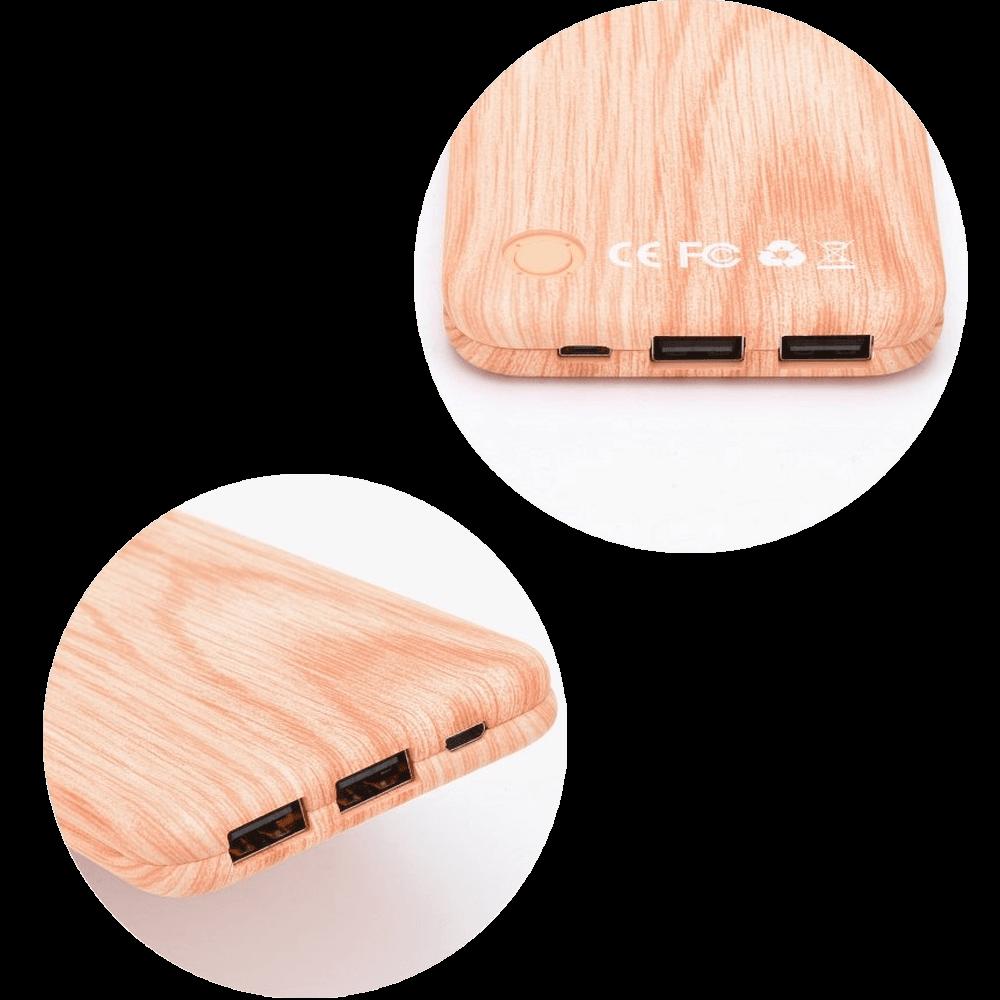ASUS Zenfone Max Pro (M2) ZB631KL power bank - külső akkumulátor 10000 mAh világos faminta