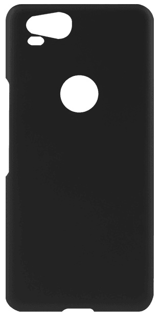 Google Pixel 2 kemény hátlap gumírozott fekete