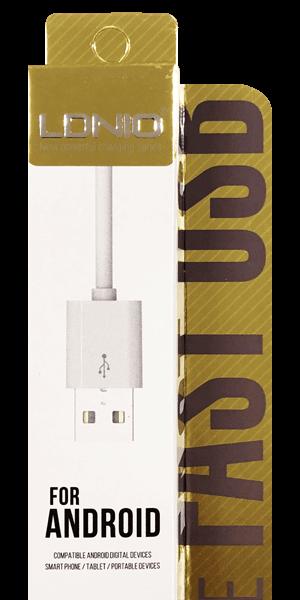 ASUS Zenfone Max Pro (M2) ZB631KL Prémium micro USB gyorstöltő adatkábel fehér