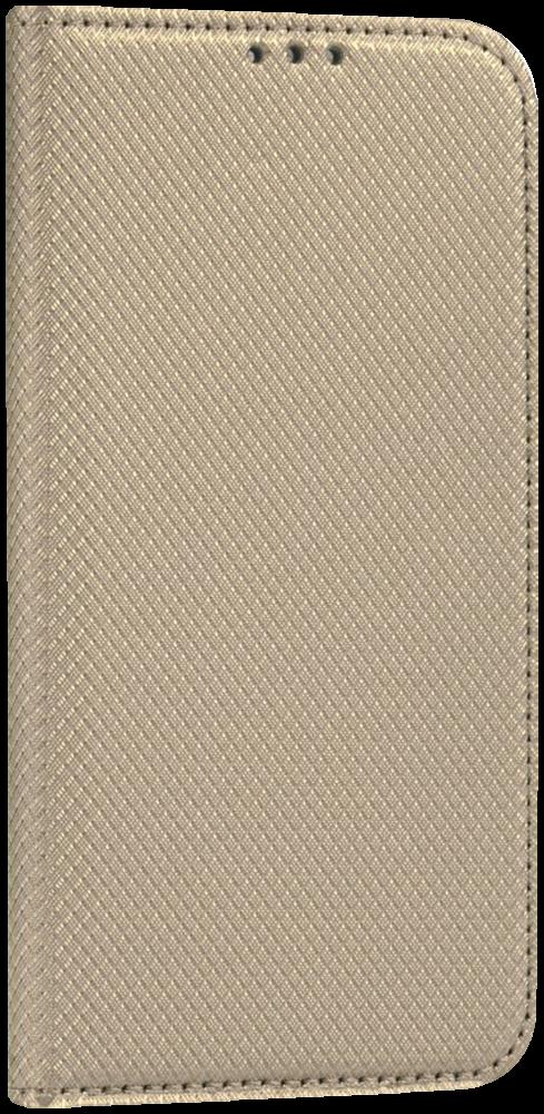 LG K10 2017 (M250N) oldalra nyíló flipes bőrtok arany