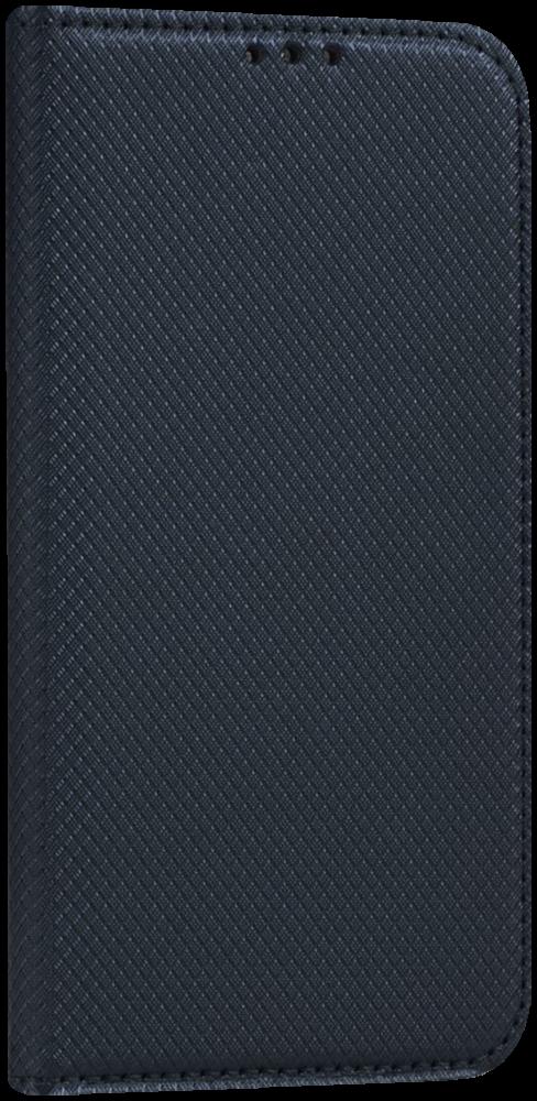 LG K10 2017 (M250N) oldalra nyíló flipes bőrtok rombusz mintás fekete