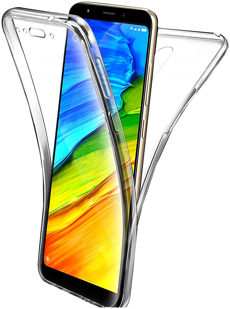 Xiaomi Redmi 5 Plus szilikon tok 360° védelem átlátszó
