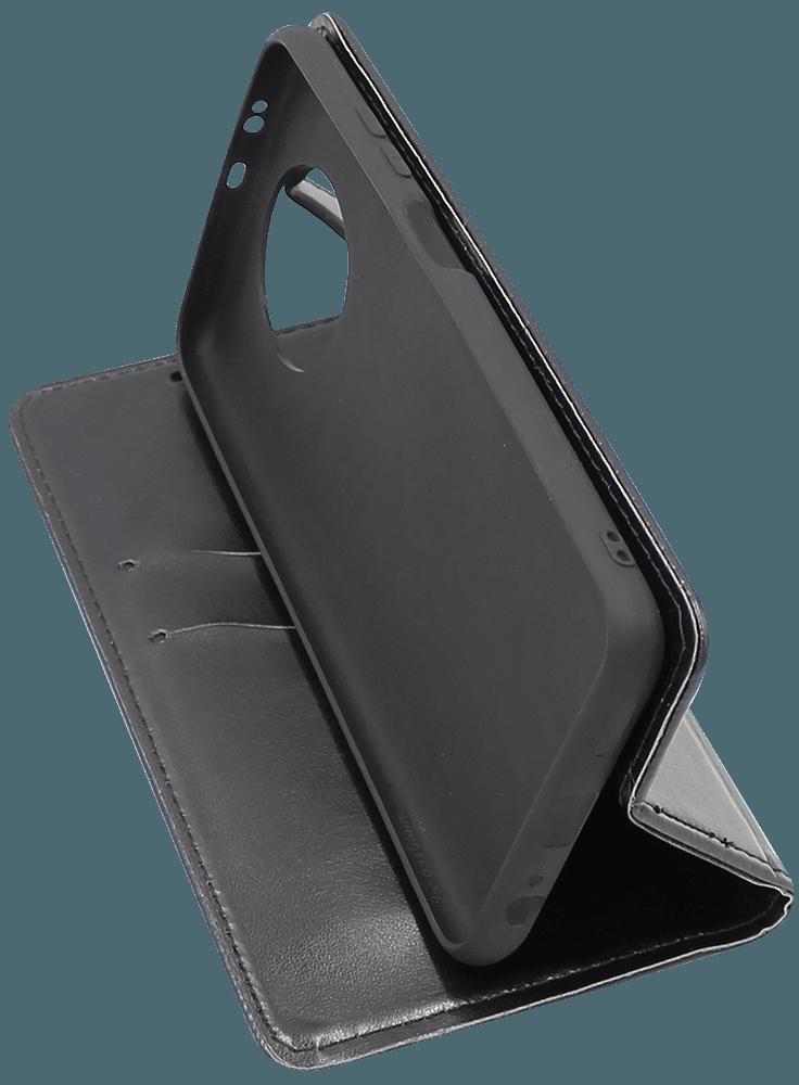 Xiaomi Redmi Note 9T oldalra nyíló flipes bőrtok asztali tartó funkciós fekete