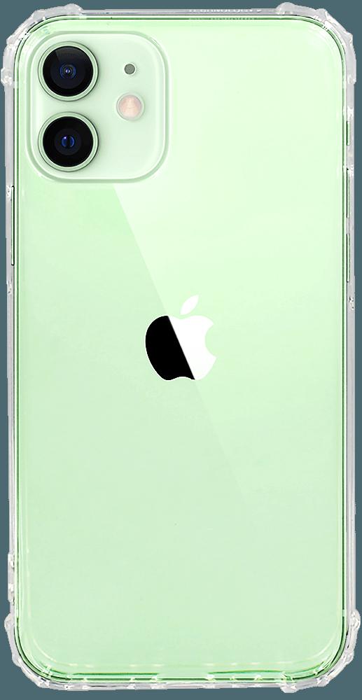 Apple iPhone 12 Mini szilikon tok közepesen ütésálló légpárnás sarok  átlátszó