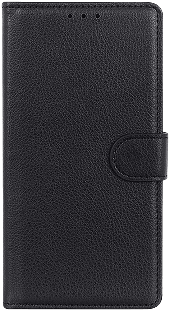 Xiaomi Poco X3 NFC oldalra nyíló flipes bőrtok prémium minőség fekete