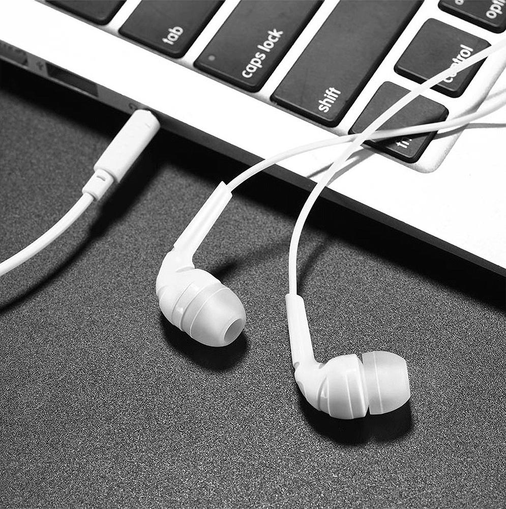 Xiaomi Pocophone F1 fülhallgató - headset nagy teljesítményű, univerzális fehér