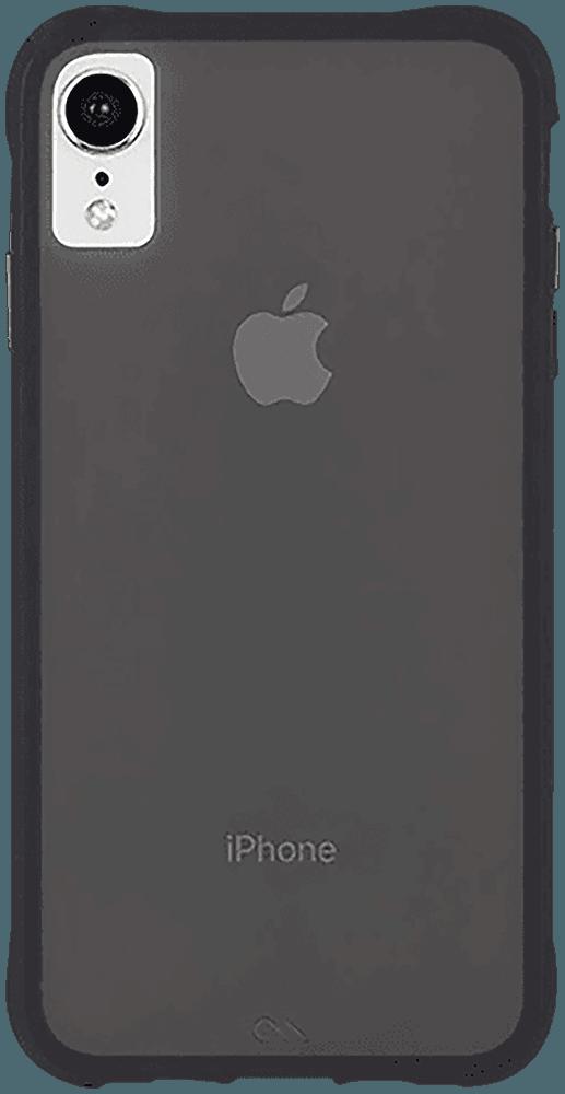 Apple iPhone XR kemény hátlap gyári CASE-MATE szilikon belső fekete