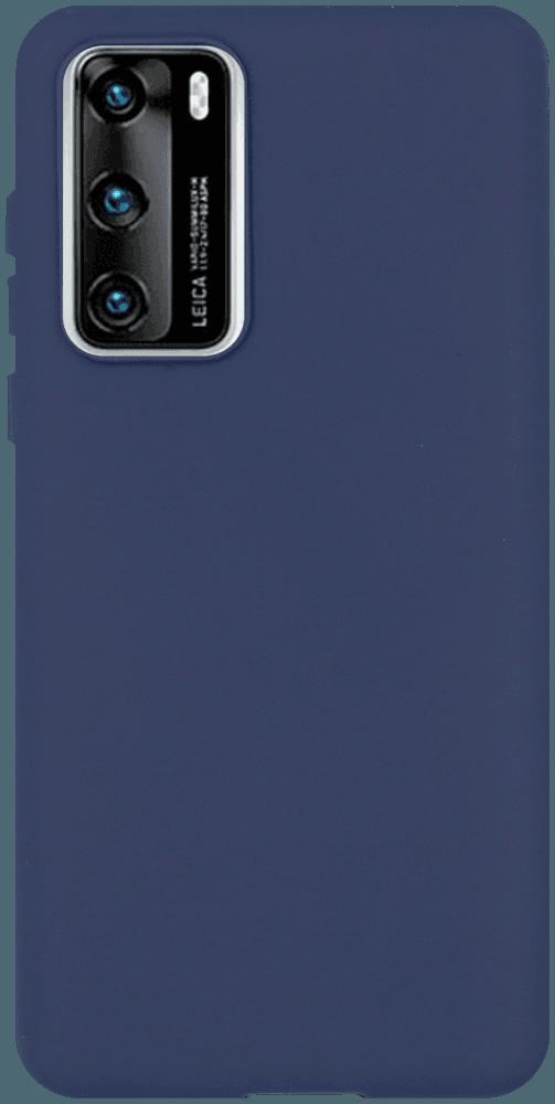 Huawei P40 szilikon tok matt sötétkék
