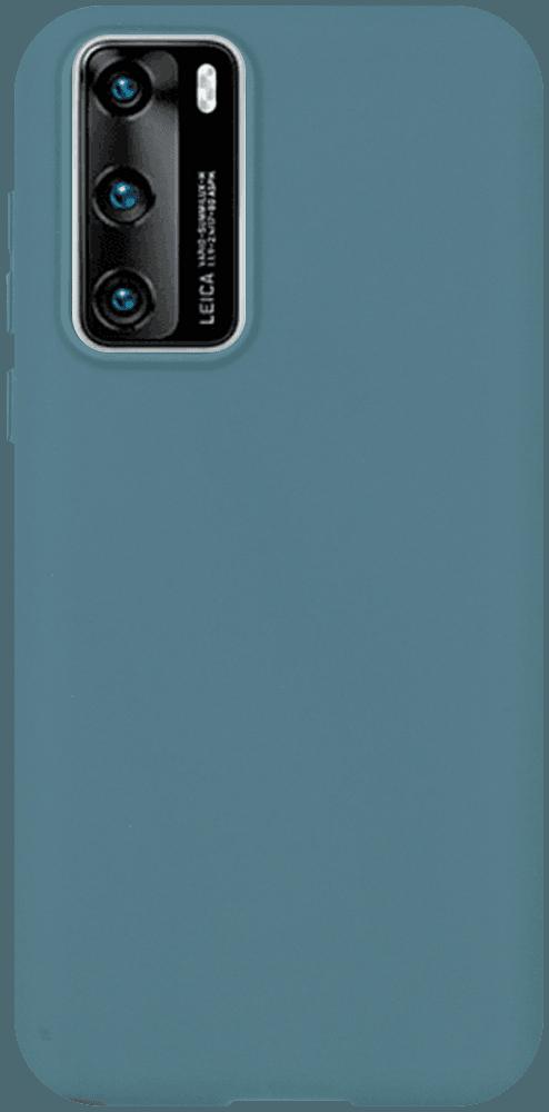 Huawei P40 szilikon tok matt kékesszürke