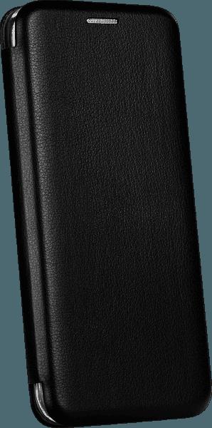Xiaomi Mi Note 10 Pro oldalra nyíló mágneses flipes bőrtok prémium minőség fekete