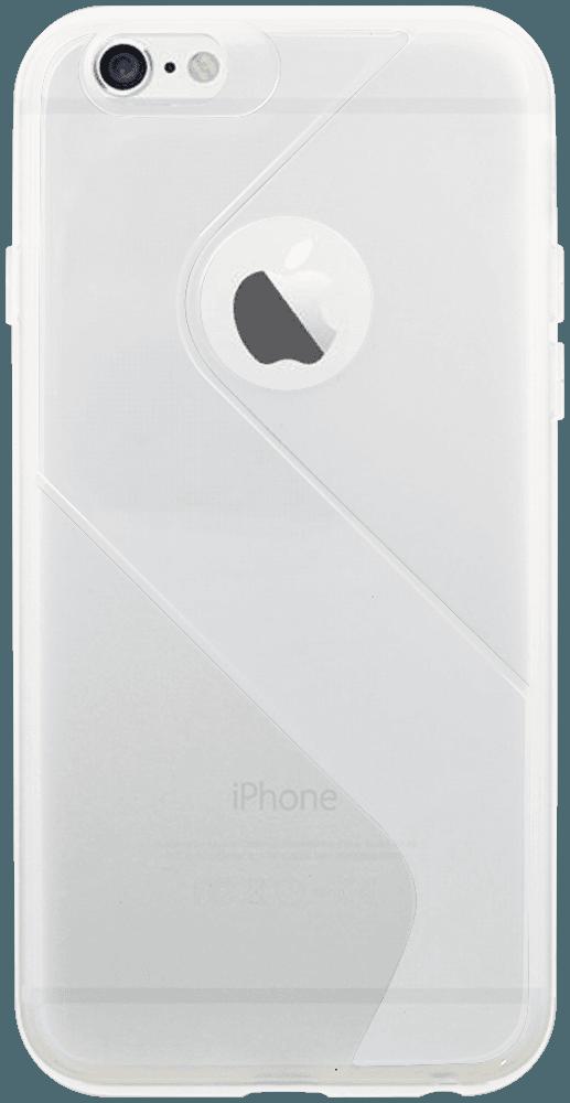Apple iPhone 6S szilikon tok logó kihagyós S-CASE átlátszó