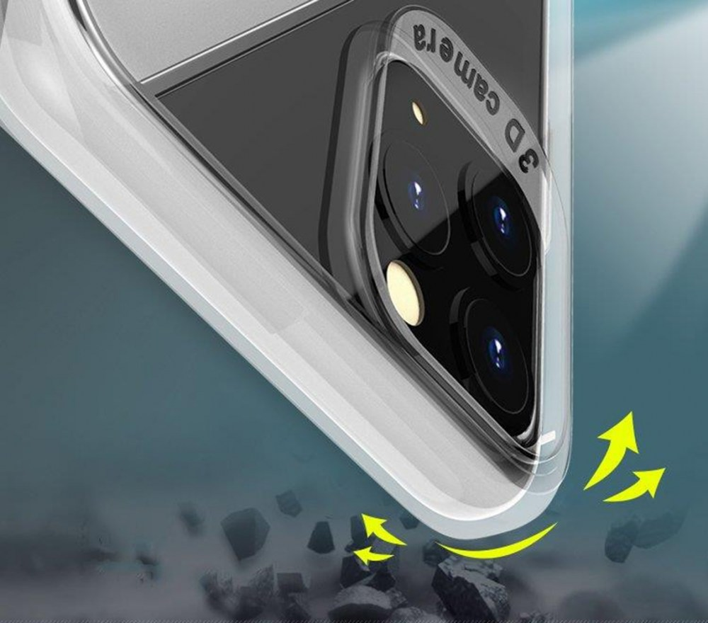 Apple iPhone 11 szilikon tok S-CASE átlátszó füstszínű