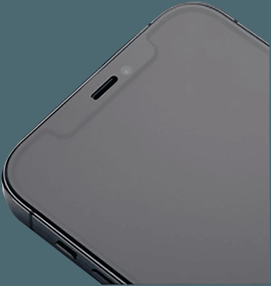Apple iPhone XS edzett üvegfólia Mr Monkey átlátszó fekete matt