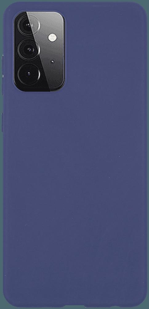 Samsung Galaxy A72 5G (SM-A726B) szilikon tok matt sötétkék