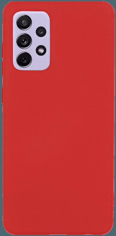 Samsung Galaxy A72 5G (SM-A726B) szilikon tok matt piros