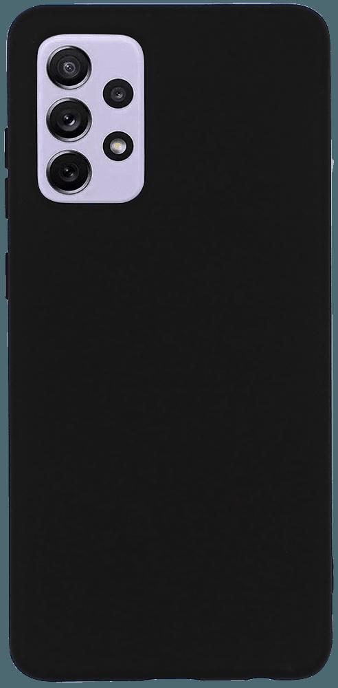 Samsung Galaxy A72 5G (SM-A726B) szilikon tok matt fekete