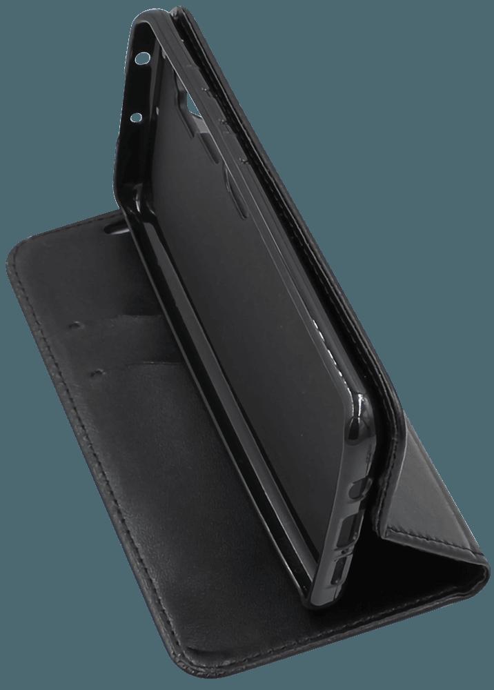 Xiaomi Mi Note 10 Pro oldalra nyíló flipes bőrtok asztali tartó funkciós fekete