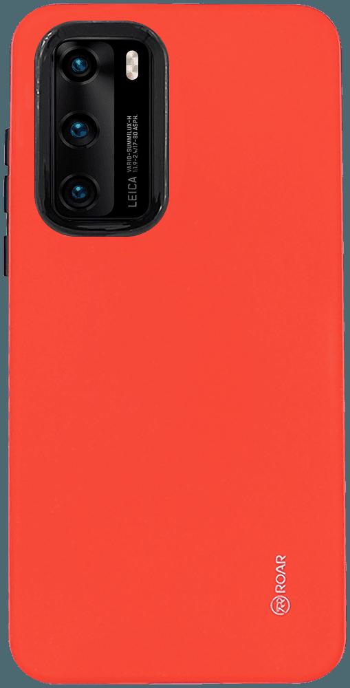 Huawei P40 ütésálló tok gyári ROAR RICO ARMOR piros