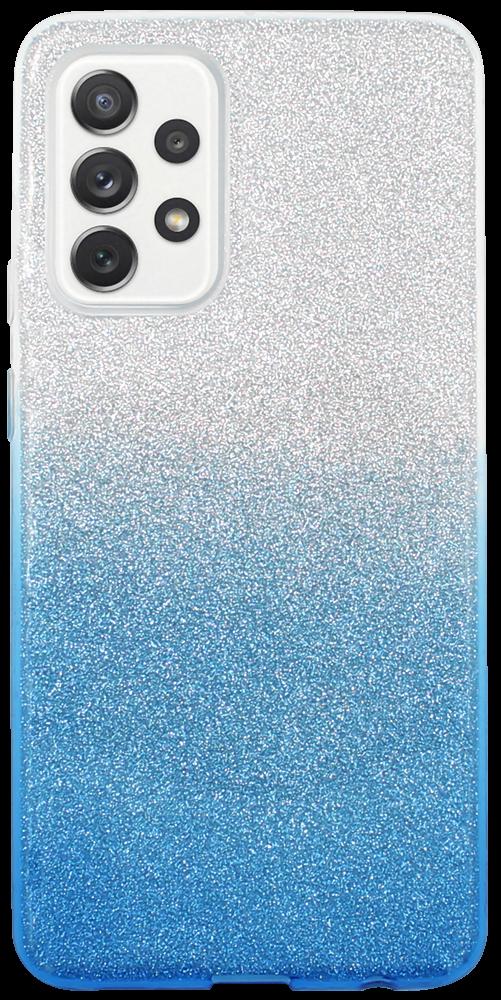 Samsung Galaxy A72 5G (SM-A726B) szilikon tok csillogó hátlap kék/ezüst