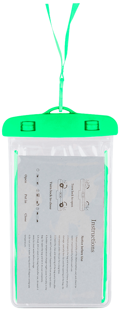 Xiaomi Mi Note 3 vízálló tok univerzális fluoreszkáló zöld