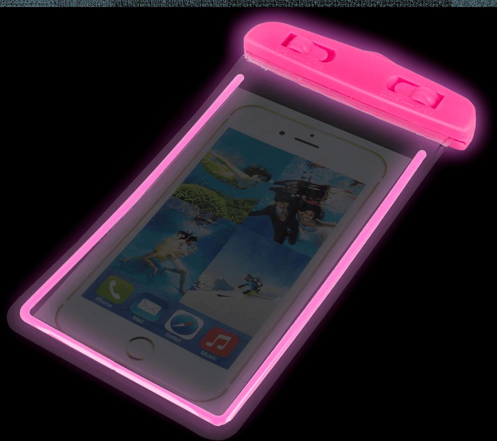 Xiaomi Redmi 4X vízálló tok univerzális fluoreszkáló rózsaszín