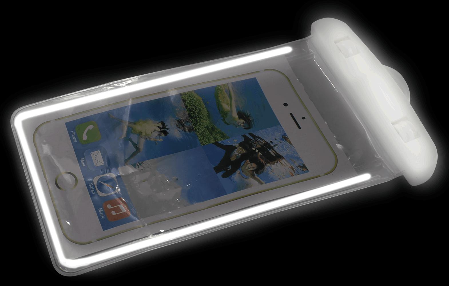 Xiaomi Redmi 4X vízálló tok univerzális fluoreszkáló fehér