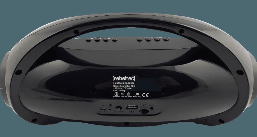 Apple iPhone XS bluetooth hangszóró Rebeltec Soundbox fekete