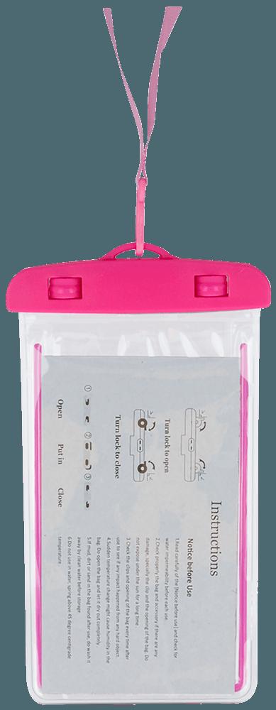 Xiaomi Mi Note 3 vízálló tok univerzális fluoreszkáló rózsaszín