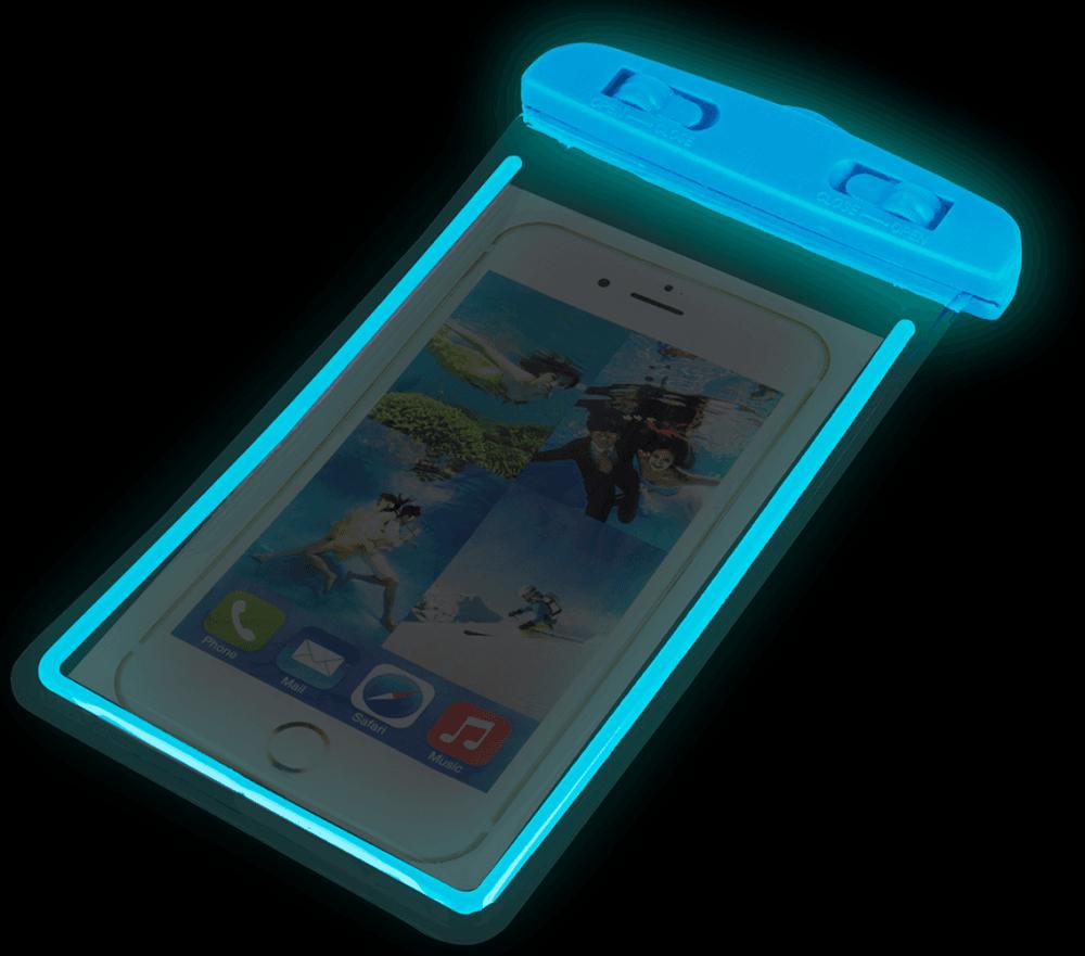 Xiaomi Redmi 4X vízálló tok univerzális fluoreszkáló kék
