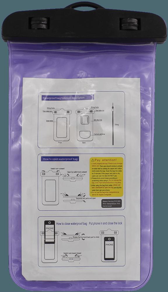 Xiaomi Mi Note 3 vízálló tok univerzális lila