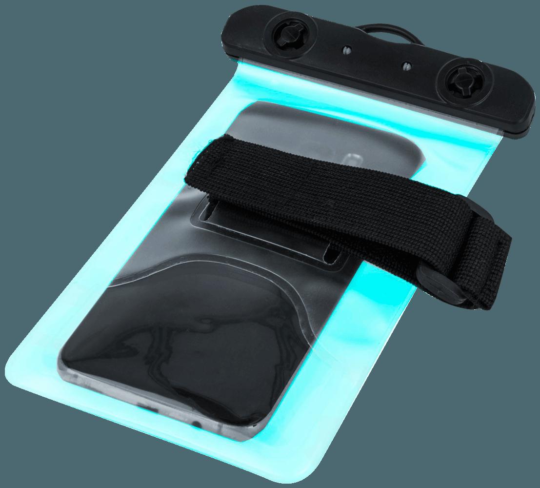LG K10 2017 (M250N) vízálló tok univerzális, karszalaggal kék