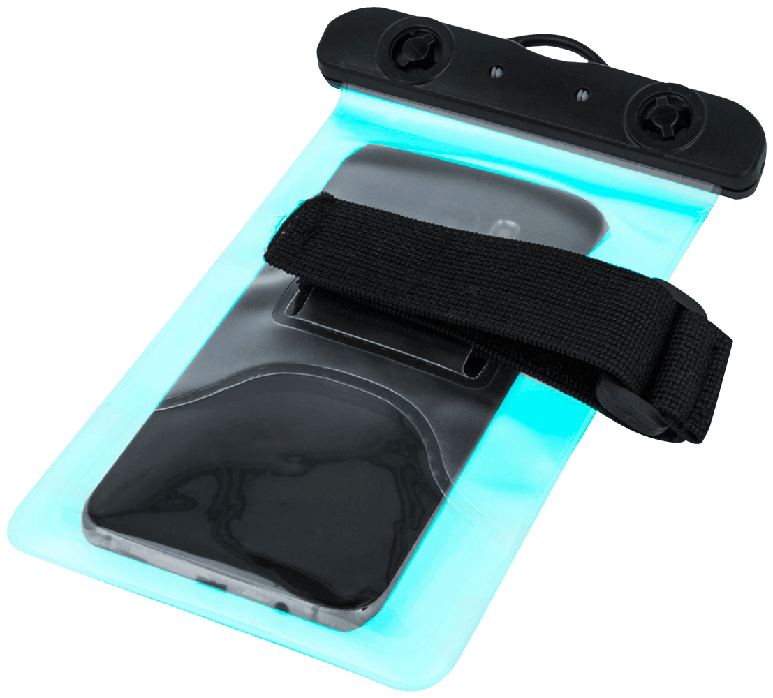 Xiaomi Redmi 4X vízálló tok univerzális, karszalaggal kék