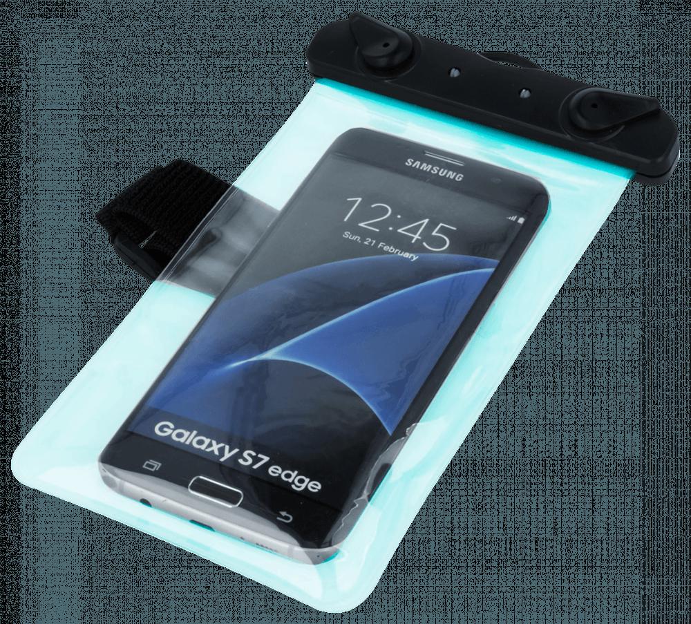 Xiaomi Mi Note 3 vízálló tok univerzális, karszalaggal kék