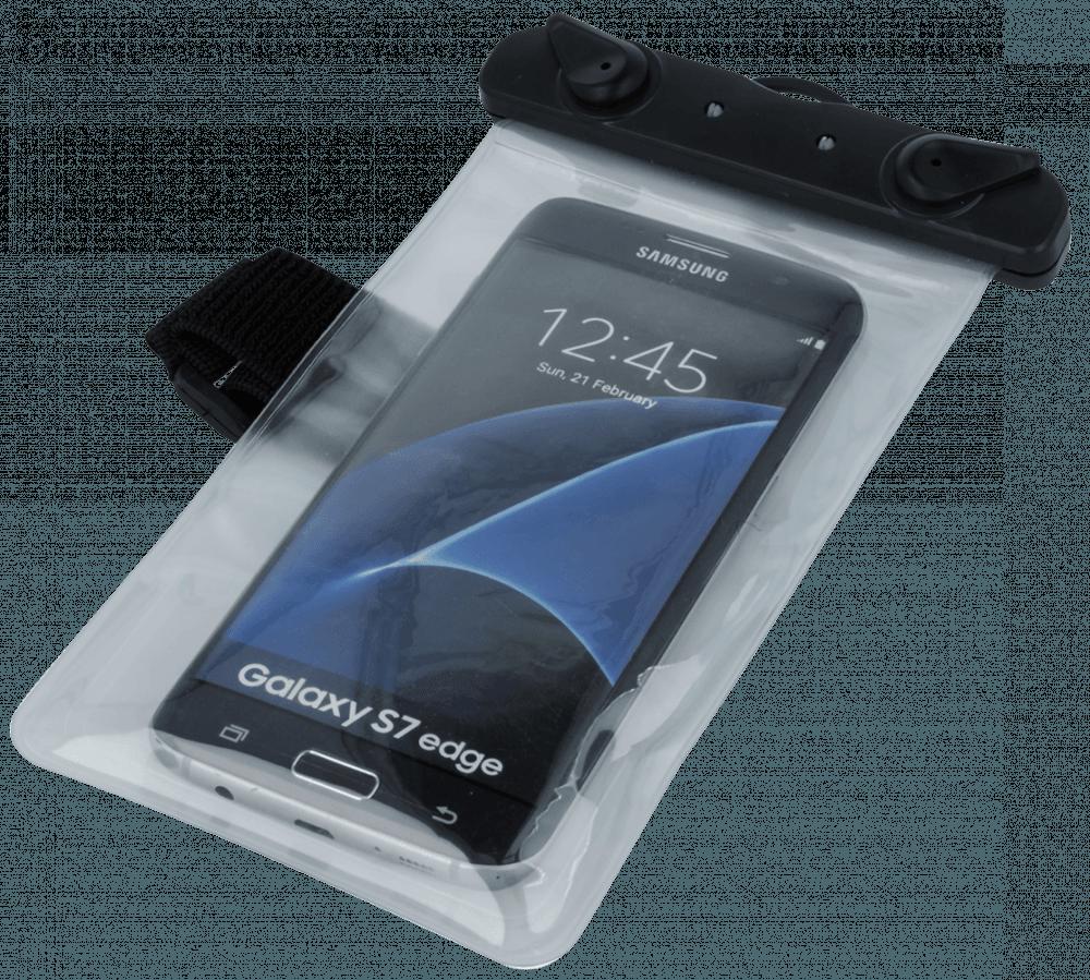 Xiaomi Mi Note 3 vízálló tok univerzális, karszalaggal átlátszó