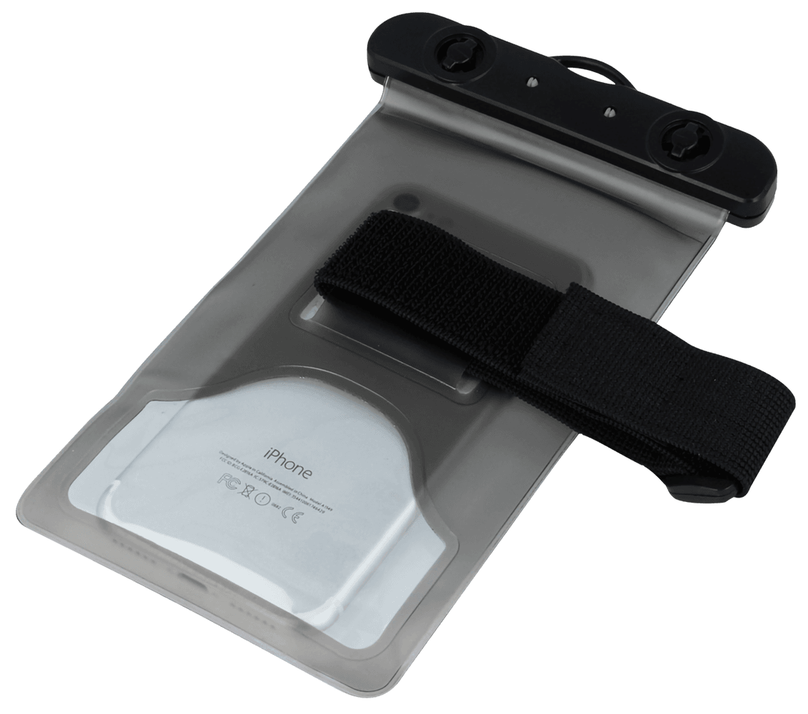 LG K10 2017 (M250N) vízálló tok univerzális, karszalaggal fekete
