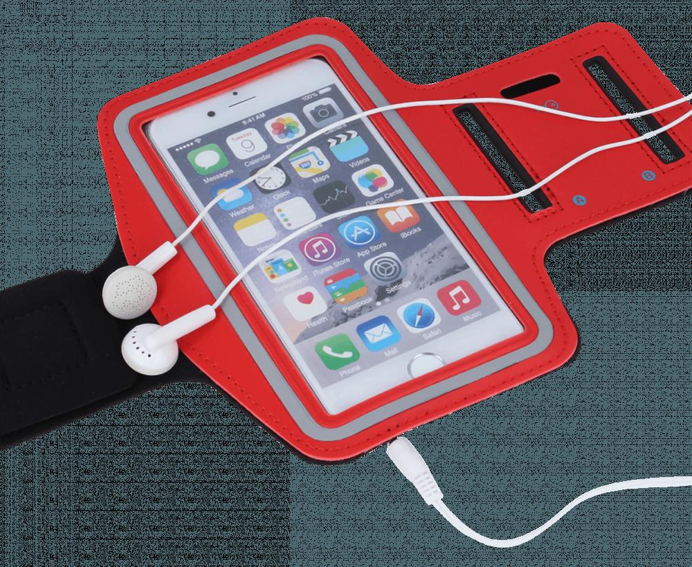 Xiaomi Redmi 5 Plus sport tok univerzális, karra rögzíthető piros