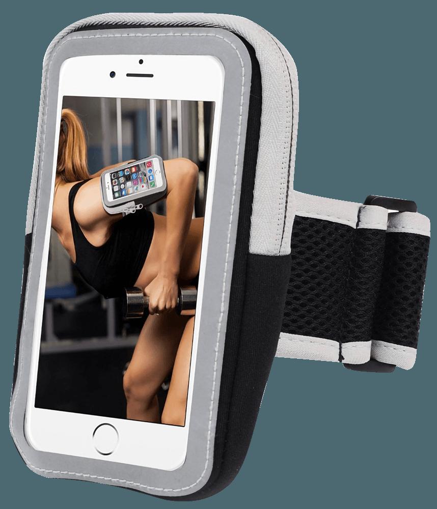 Xiaomi Mi Play sport tok univerzális, karra rögzíthető cipzáros fekete