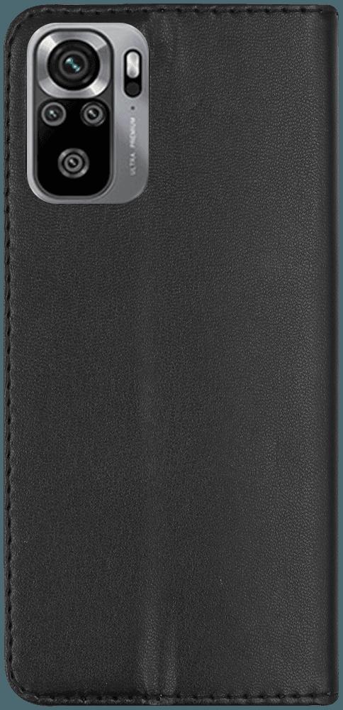Xiaomi Redmi Note 10s oldalra nyíló flipes bőrtok asztali tartó funkciós fekete
