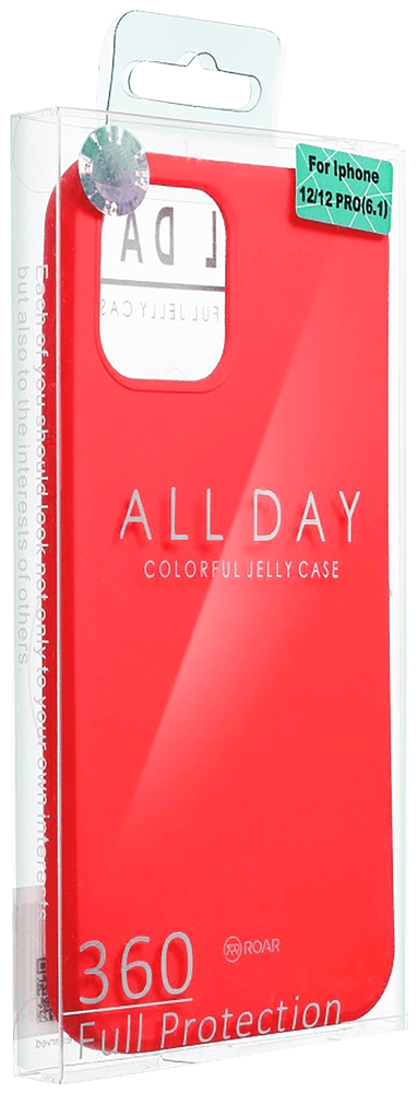 Apple iPhone XR szilikon tok gyári ROAR piros