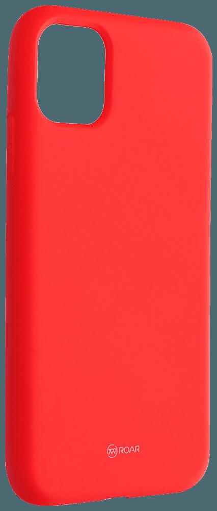 Apple iPhone 11 szilikon tok gyári ROAR barackszínű